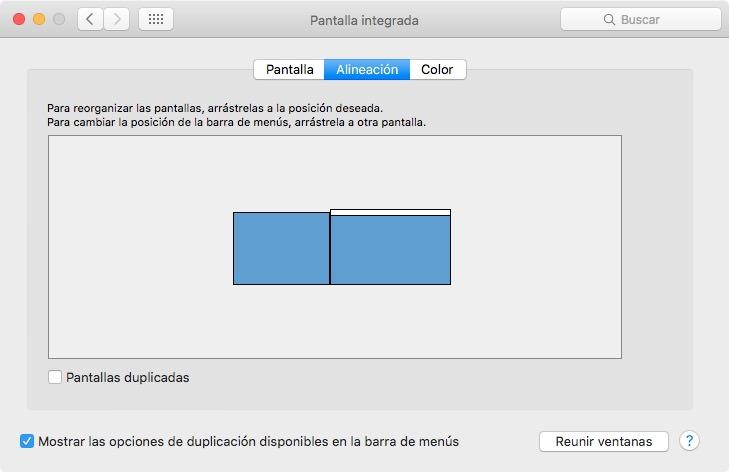 Duet App, organización de pantallas