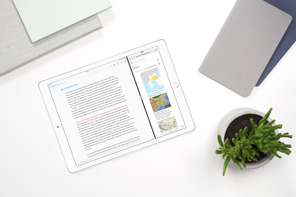 Ulysses en iPad Pro con Split View
