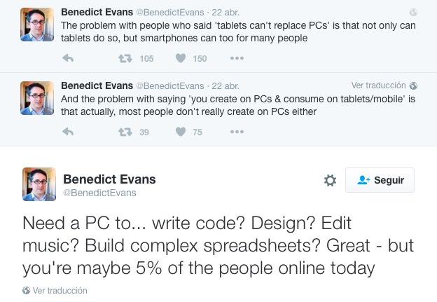 Benedict Evans en Twitter