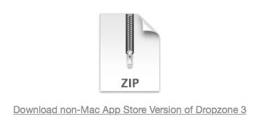 Versión NO Mac App Store Dropzone