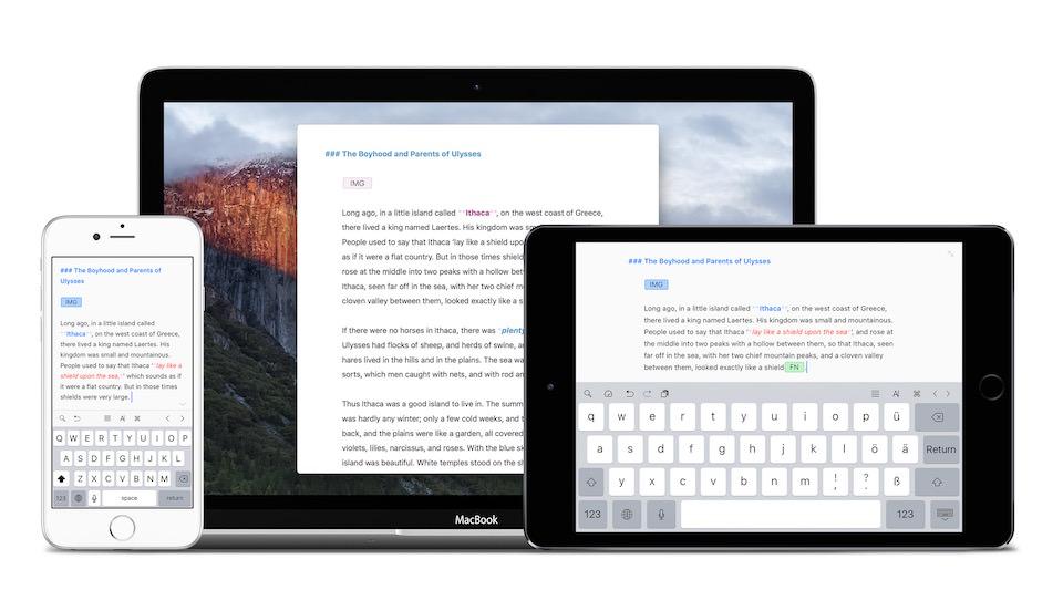 Sincronización de Ulysses entre iPhone iPad y Mac