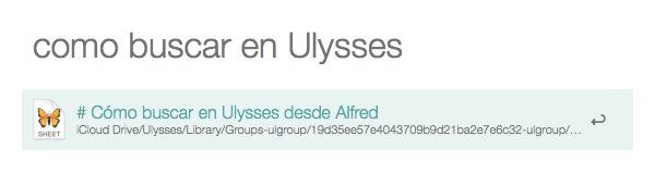 Buscador de Ulysses en Alfred sin filtro