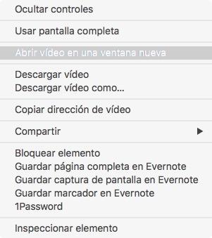 Abrir vídeo WebM en una nueva ventana de Safari