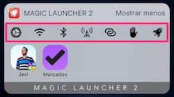 Ajustes rápidos de Magic Launcher Pro en Widget