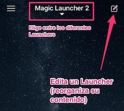 Editar contenido de un Launcher