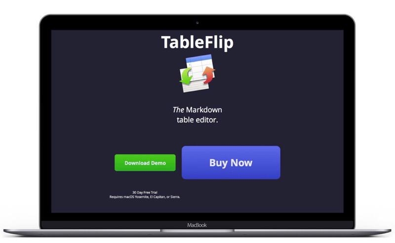 Web de TableFlip, conversor de tablas Markdown