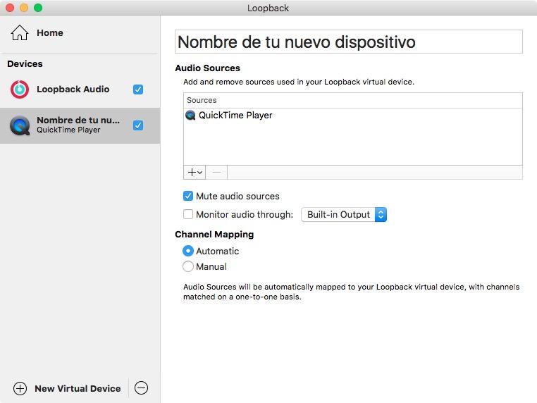 Configuración de un nuevo dispositivo en Loopback