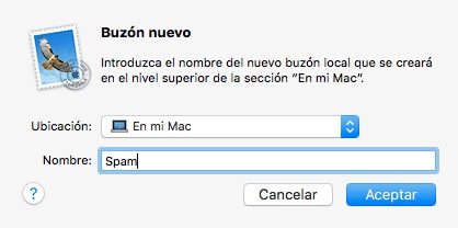 Nuevo buzon de Spam en Apple Mail