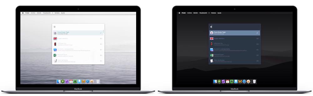 Modo claro vs. modo oscuro en Mac