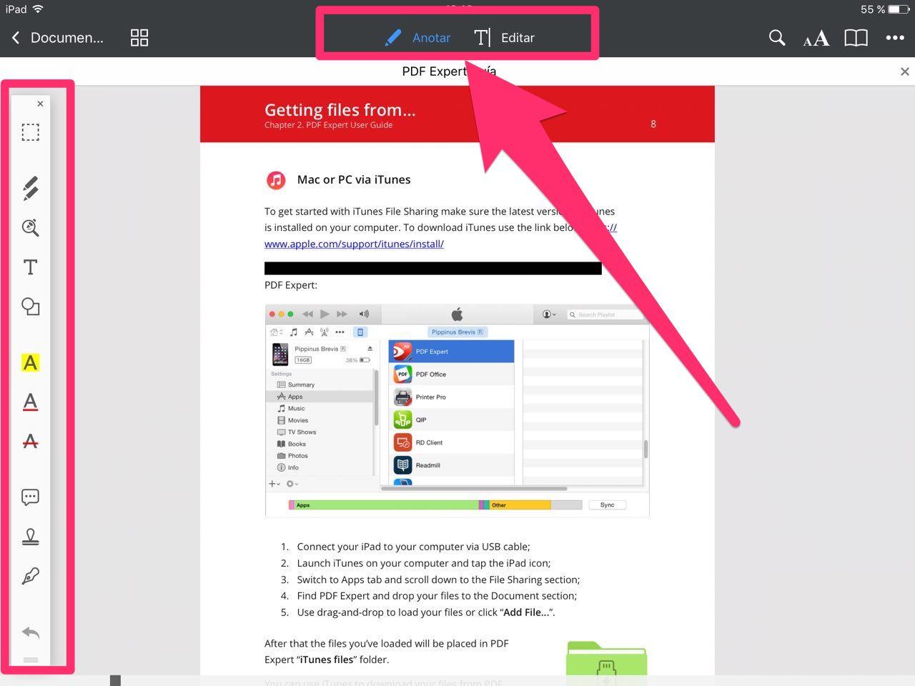 Anotar en PDF Expert 6 para iOS