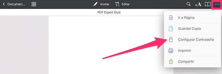 Como proteger un PDF con contraseña con PDF Expert