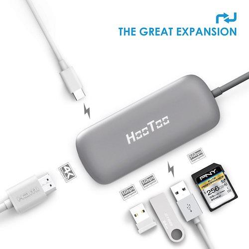 Adaptador USB C con HDMI y tarjeta de memoria