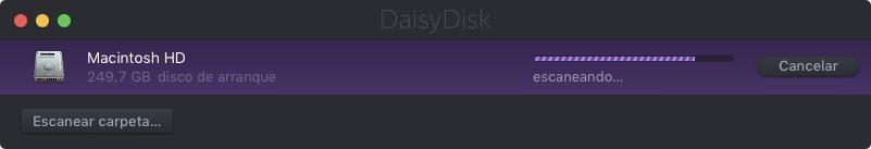 DaisyDisk escaneando