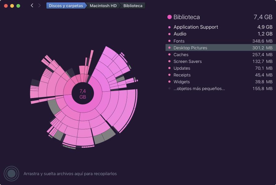 Carpeta Desktop pictures en DaisyDisk