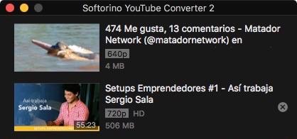 Encadenar vídeos en Softorino Youtube Converter
