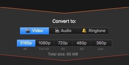 Formatos de descarga de Softorino Youtube Converter
