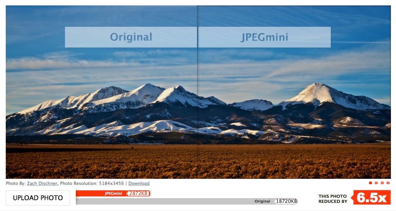 Ejemplo de reducción de tamaño de foto con JPEGmini