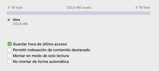 Opciones extra NTFS for Mac de Paragon