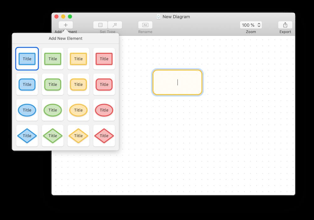 Nuevo elemento en Diagrams