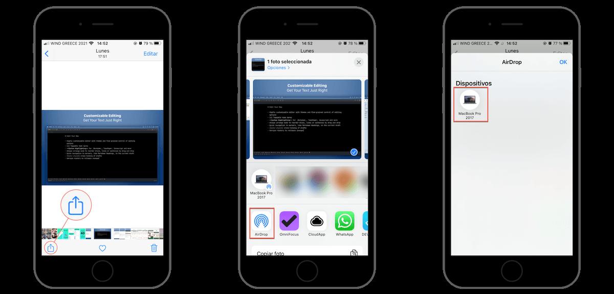 Ejemplo AirDrop iOS